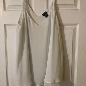 Flowy white blouse from Torrid
